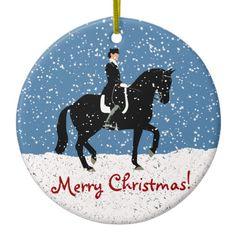 Shop Snowy Dressage Horse Christmas Ceramic Ornament created by Pattyspetart. Horse Christmas Ornament, Christmas Vinyl, Merry Christmas Greetings, Christmas Signs, Christmas Balls, Christmas Stockings, Christmas Crafts, Xmas, Dressage Horses