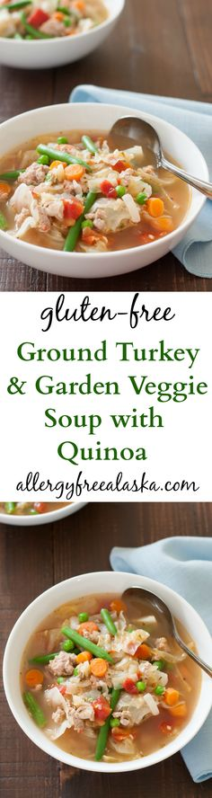 Ground Turkey & Garden Veggie Soup with Quinoa - Allergy Free Alaska