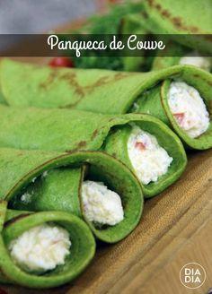 Como fazer deliciosa receita vegetariana de Couve com Ricota. Receita simples e rápida vegetariana. Opção vegetariana para panqueca.