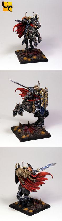 Warhammer FB | Warriors of Chaos | Classic Archaon on Dorghar #warhammer #ageofsigmar #sigmar #wh #whfb #gw #gamesworkshop #wellofeternity #miniatures #wargaming #hobby #fantasy
