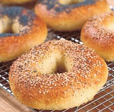 Classic Water Bagels. Takes a lot of tome but I love his recipes