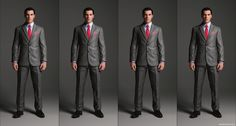 2 Button Suit Jacket with peaked lapel and pocket variations