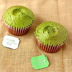 A recipe for green tea cupcakes from london