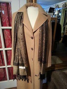 Brooks Brothers Camelhair Designer Coat By Loro Piana Camel Size 6 Golden Fleece $425