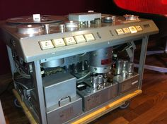 Vintage Studer Reel to Reel at Gearbox.  Tape just sounds amazing.