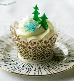 Muffin Rezepte für Weihnachtsgebäck-Dekorative Papierförmchen