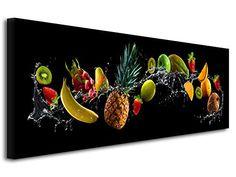 DECLINA Tableau Cadre decoratif Moderne ustensile de Cuisine Chambre Adulte Cuisine D/éco Maison Salon Impression sur Toile d/écoration Murale Noir et Blanc 80x30 cm
