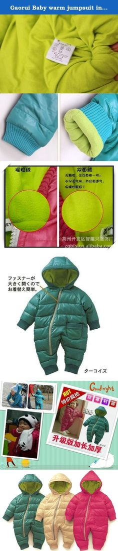"""Gaorui Baby warm jumpsuit infant winter kids coat Siamese newborn romper climbing suit_Rose-80. Feature: Brand new Material:cotton Color:Rose.Green with blue Package included: 1*Baby romper climbing suit Size: Tag Size 80 (for 0-6 months)---Cloth Length 23.62""""---Bust 25.98"""" Tag Size 90 (for 6-12months)---Cloth Length 25.6"""" ---Bust 26.78"""" Tag Size 100(for 12-24months)--Cloth Length 27.56""""---Bust 27.56""""."""