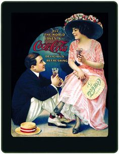 1890's Lady & Gentleman - Coca Cola