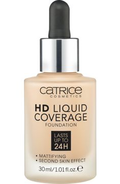 Catrice HD Liquid Coverage Foundation Sand Beige 30 fühlt sich an wie eine zweite Haut und verleiht dabei einen perfekten Teint. Die ultra-leichte, flüssige Textur mit hoher und gleichzeitig natürlich aussehender Deckkraft deckt...