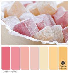 ロクムのカラーパレット「Turkish Delight Lokum Colorpallet(Turkish Delight Lokum hues)」 © Birthdaycolors