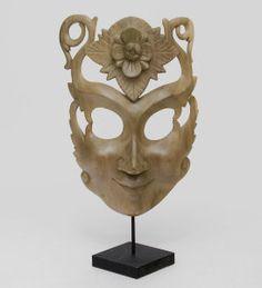 """Маска """"Цветок счастья"""", арт. 402804 Размер: 44см Материал:дерево Производство:Индонезия"""