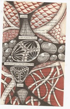 zentangle over dictionary page or blackout poem - Google Search