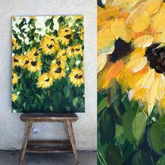 Best Inspiration Art Drawing – My Life Spot Art Inspo, Kunst Inspo, Art Inspiration Drawing, Art Floral, Art Sur Toile, Sunflower Art, Sunflower Paintings, Fine Art, Art Design
