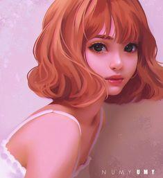 Imagen de girl, drawing, and art Girly Drawings, Art Drawings, Pretty Art, Cute Art, Digital Art Girl, Anime Art Girl, Manga Girl, Portrait Art, Cartoon Art