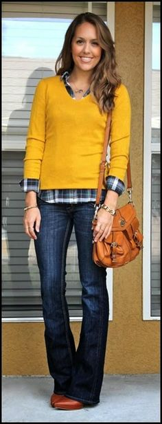 Thanksgiving outfit idea - layers and flares