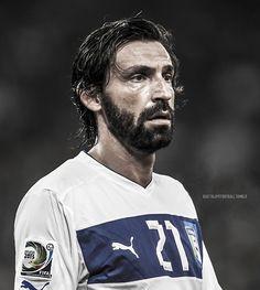 Pirlo, 100 juegos con la Azzurra. #italia #calcio #Pirlo #nazionale