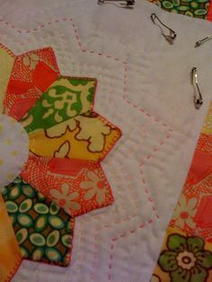 Hand quilting in progress