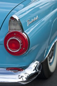 1956 Ford Thunderbird Taillight And Emblem - Car Images by Jill Reger..Re-pin brought to you by agents of #Carinsurance at #HouseofInsurance in Eugene, Oregon