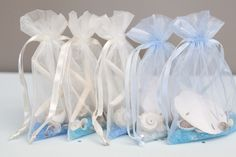 DIY | sea shell sachet favors - Something Turquoise {daily bridal inspiration}