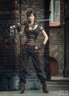 60 Best Steampunk Costume Ideas for Your Adventure Time - Enjoy Your Time; I've discovered I love Steampunk. There needs to be more of this in my future. Steampunk Cosplay, Chat Steampunk, Viktorianischer Steampunk, Steampunk Clothing, Steampunk Fashion Women, Steampunk Outfits, Steampunk Costume Women, Steampunk Pants, Steampunk Necklace