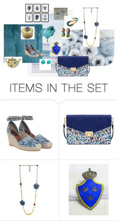 """Blue"" by underlyingsimplicity ❤ liked on Polyvore featuring art, vintage, jewelry and gifts"