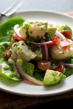 NYT Cooking: Ceviche makes a light, satisfying meal. I like to serve it over a bed of spinach. You can begin the dish in the morning and the fish will be ready by dinnertime.