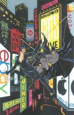Catwoman & Batman by J.W. Erwin