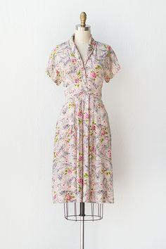 vintage 1940s dress | 40s dress | Yesteryear Roses Dress | $148
