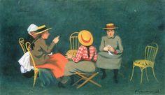The women by Felix Vallotton. Order from DEKORAMI as a poster, canvas print, mural. Zamów jako obraz na płótnie, plakat lub fototapetę na DEKORAMI.pl