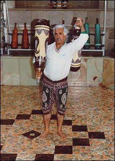 Beautiful customized Persian Meel style Indian Clubs.