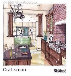 Kitchen Concept Rendering - Inspiration photo http://mickricereto.files.wordpress.com/2013/08/crafts-photo.jpg
