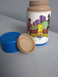 Power Rangers 1995 Alladin Thermos with Stopper and Cup, great for any lunchbox and will be a lovely addition to your collectibles by SweetBraceDesign on Etsy