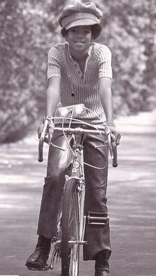 Young Michael Jackson with a bicycle. https://www.youtube.com/watch?v=ioVhXYL8AnE