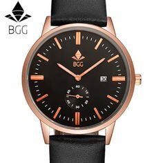 BGG Original Brand genuine Leather Band Watch Men Casual Travel wristwatch Calendar Mens sports Watch male Business clock hours (32734700476)  SEE MORE  #SuperDeals