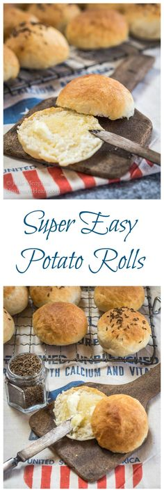 Super Easy Potato Roll Recipe via @HostessAtHeart