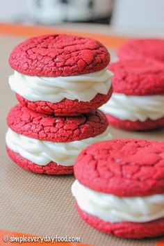 Red velvet whoopee pies - made easy with cake mix