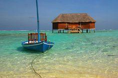 Honeymoon villa in Maldives Beach Scenery, Honeymoon Destinations, Maldives, Places Ive Been, Seaside, Sailing, Beautiful Places, Coastal, Around The Worlds