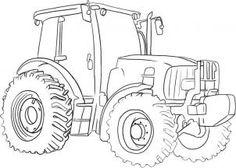 step-by-step how to draw a tractor