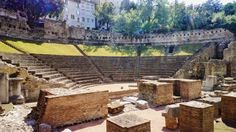 Teatro romano di Trieste. Built at the end of the 1st century BC and expanded at the beginning of the 2nd century AD at the behest of Quintus Petronius Modestus (under Traianus). It can accommodate 3,500 to 6,000 spectators. Considered lost, it was identified in 1814 by the architect Pietro Nobile, but only in 1938 was unearthed during the demolition of a part of the old city.