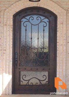 Iron doors wrought iron doors 60 front door and patio for Porte patio 60 pouces