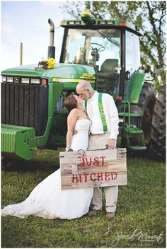 Country wedding pictures , southern wedding pictures , wedding pictures, wedding portraits , John Deere   Special Moments Photography Best Wedding Portrait of 2013 Contest #weddingpictures #weddingphotography