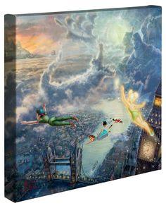Disney Insider Deals   The Thomas Kinkade Company Peter Pan wrapped canvas