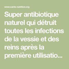 Super antibiotique naturel qui détruit toutes les infections de la vessie et des reins après la première utilisation! - Santé Nutrition