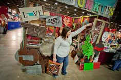 Metal signs: I can't wait to see products like this at An Affair of the Heart of Tulsa.