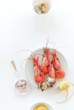 Cooking with Spot prawns #summer #food styling #food photography #inspiration | Au Petit Goût
