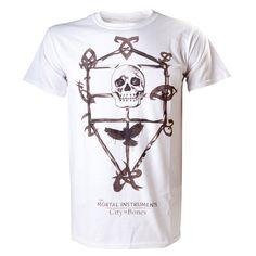 Camiseta Cazadores de sombras. Calavera