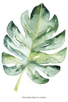 Print for walls, leaf art, tropial print. Monstera leaf botanical wall art print Tropical monstera