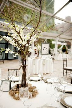 simple rustic wedding tablescapes | ... by Cobblestone Catering , and this wedding was held in the Foundry