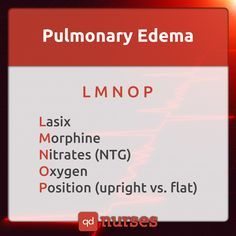 Do not forget your alphabet when it comes to pulmonary edema. --- Visit…
